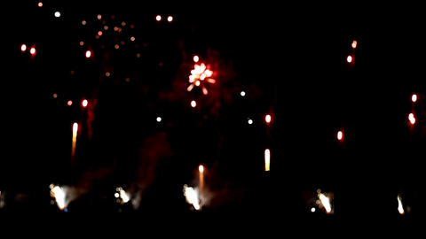 Colorful firework on National Day Stock Video Footage