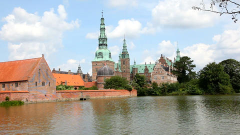 Wonderful Renaissance Castle - Largest In Scandina stock footage