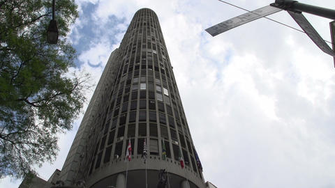 073 Sao Paulo , Edifico Italia building Stock Video Footage