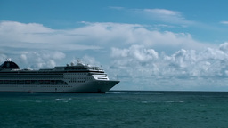 BIG CRUISE SHIP LINER TIMELAPSE Stock Video Footage