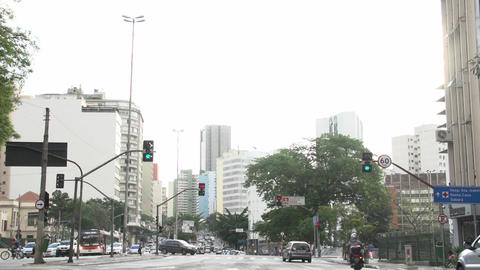 081 Sao Paulo , traffic , cars , city Stock Video Footage