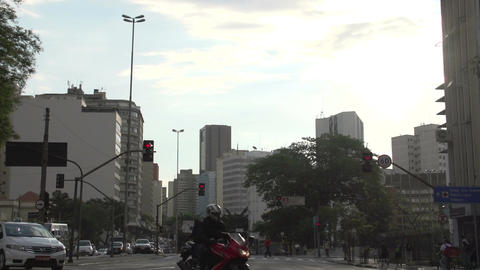 082 Sao Paulo , traffic , cars , city Stock Video Footage