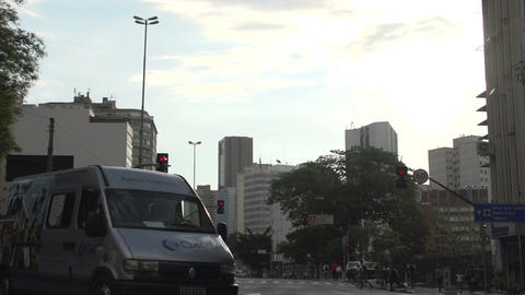 082 Sao Paulo , traffic , cars , city Footage
