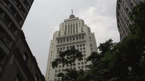 095 Sao Paulo , Banespa Skyscraper stock footage