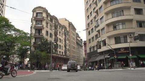 105 Sao Paulo , traffic , cars , city , people Footage