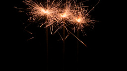 Firework sparklers Stock Video Footage