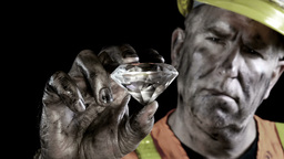 Diamond Miner stock footage