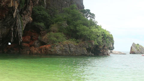 rock is near the azure sea Footage