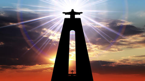 Statue of Christ the King and Divine Light ビデオ