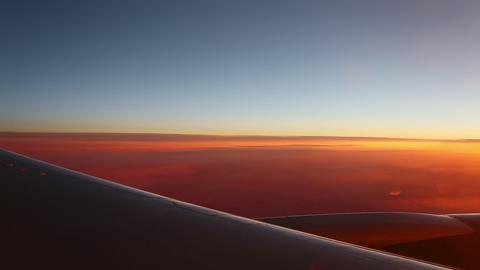 Aerial sunrise Footage