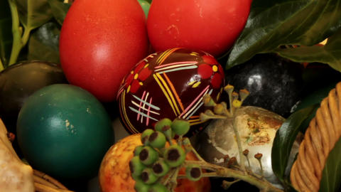 Static Film Shot On Easter Eggs - Close Up stock footage