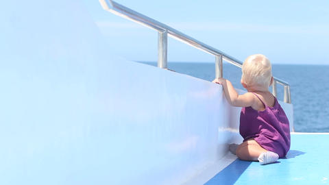 Child Stand Seat Deck stock footage