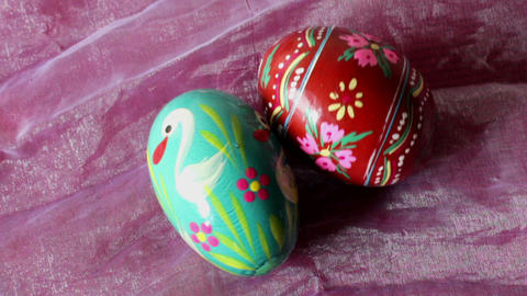 Two Easter Eggs - Close Up stock footage