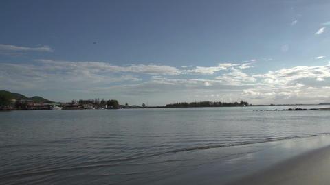 019 Laguna , small beach at lake , panshot Footage
