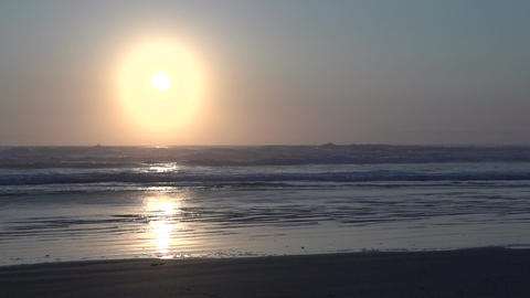 036 Laguna , Sunrise at the beach in slowmotion Stock Video Footage