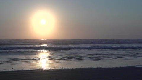 036 Laguna , Sunrise at the beach in slowmotion Footage