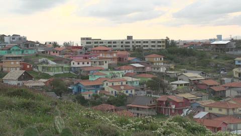 086 Laguna , Santa Marta village , colourfull Footage