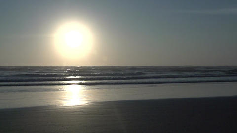 0100 Laguna , sunrise at the beach , slowmotion Footage