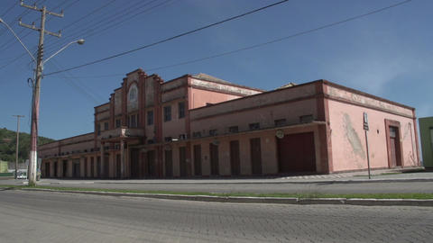 0145 Laguna , Colonial building , traffic , blue s Footage