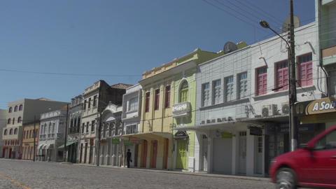 0147 Laguna , Colonial buildings , traffic , blue  Footage
