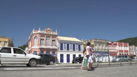 0149 Laguna , Colonial buildings , traffic , peopl Footage