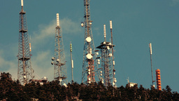 Communication Towers Site stock footage