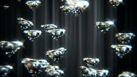 Falling Diamonds Stock Video Footage