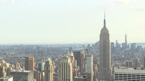Empire State Building From Skyscraper stock footage