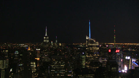 Manhattan by night Footage