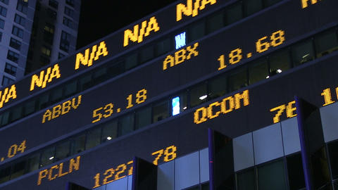 Stock ticker Footage