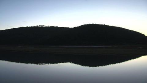 Lake in Africa, pan shot Stock Video Footage