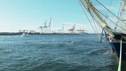 Bow of the Leeuwin II Ship Moored in Fremantle Por Footage