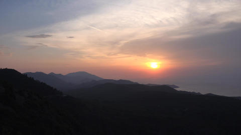 Sunset and mountains in Turkey Footage