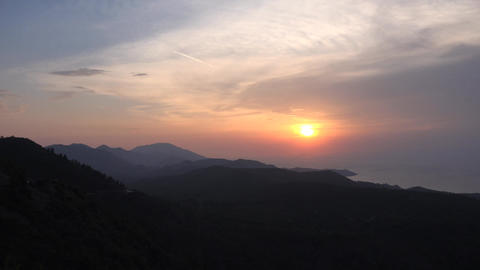 Sunset and mountains in Turkey Stock Video Footage