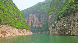 Sailing through the Three Little Gorges in Yangtze Footage