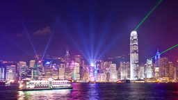4k Timelapse Video Of Symphony Of Light In Hong Ko stock footage