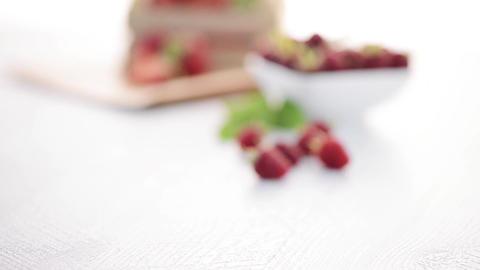 Strawberries and raspberries Footage