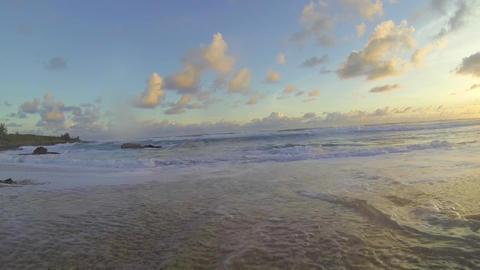 Kenting Baisha Bay - ocean waves come towards came Footage