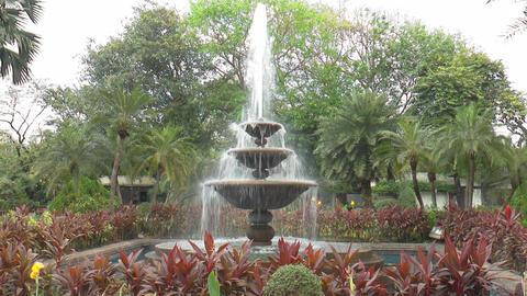 Garden Fountain stock footage