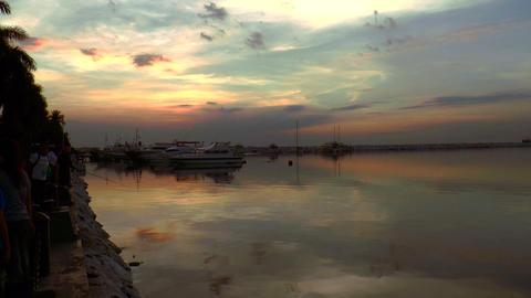 harbor sundown Footage