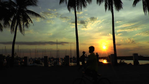 manila harbor sunset Footage