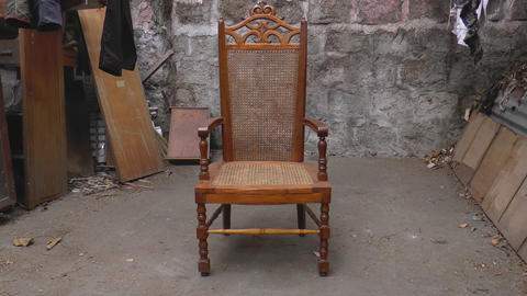 old chair Stock Video Footage