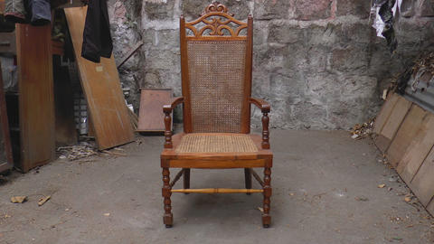Old Chair stock footage