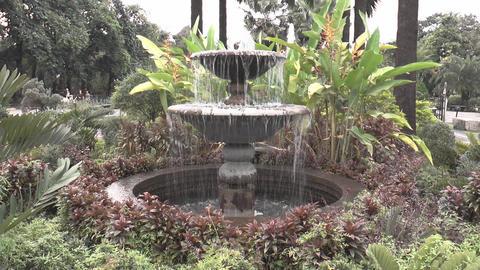 garden fountain closeup Footage