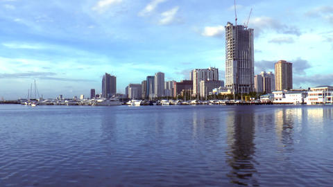 manila bay cityscape time lapse Footage