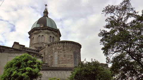Manila Cathedral Back stock footage