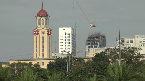 manila city hall clock Stock Video Footage