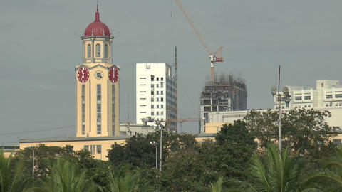 Manila City Hall Clock stock footage