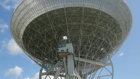 large radio telescope tilt 11487 Footage