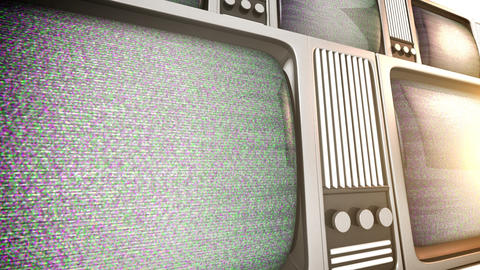 4K. Tv sets with static Footage